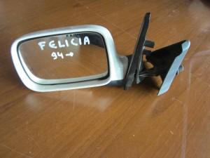 Skoda Felicia 1994-2001 μηχανικός καθρέπτης αριστερός άσπρος