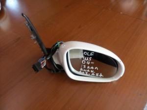 VW golf plus 2004-2014 ηλεκτρικός ανακλινόμενος καθρέπτης δεξιός άσπρος (13 καλώδια-φώς ασφαλείας)