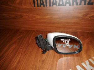 VW Tiguan 2007-2016 δεξιός καθρέπτης ηλεκτρικός άσπρος 6 καλώδια