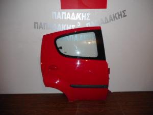 Citroen C1/Peugeot 107 2006-2014 πόρτα πίσω δεξιά κόκκινη