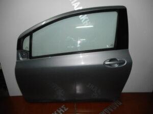Toyota Yaris 2006-2011 αριστερή πόρτα δύθυρη ασημί σκούρο