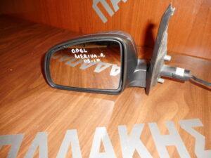 Opel Meriva A 2003-2010 μηχανικός καθρέπτης αριστερός ασημί σκούρο