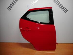 Toyota Aygo 2014-2020 πίσω δεξιά πόρτα κόκκινη