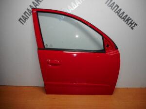 Hyundai i10 2008-2014 εμπρός δεξιά πόρτα κόκκινη